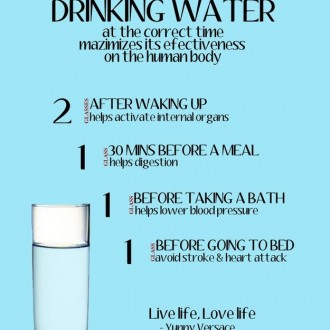 LIFE TIP: Best Times to Drink Water